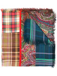 Pierre Louis Mascia Checked Scarf Red