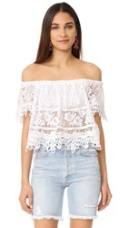 Free People Sweet Dreams Lace Crop Top White