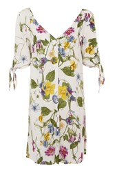 Glamorous Button Front Floral Shirt Dress By Tall Multi