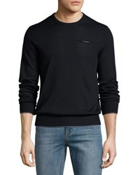 Pya Chest Pocket Crewneck Pullover Sweater Multi