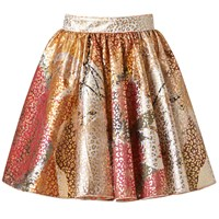 Supersweet X Moumi Leopard Bop Skirt White Red Gold