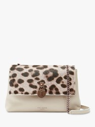Ted Baker Canann Leather Padlock Cross Body Bag Taupe