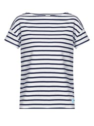 Orcival Breton Striped Cotton T Shirt Navy White