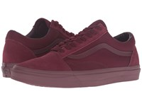 Vans Old Skool Mono Port Royale Skate Shoes Red