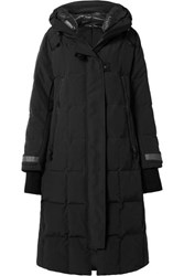 Canada Goose Elmwood Hooded Quilted Shell Down Coat Black