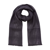 Mulberry Shimmer Wool Mix Scarf Black