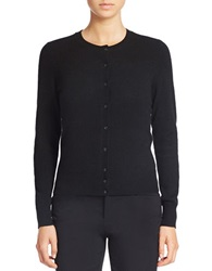 Lord And Taylor Petite Solid Cashmere Cardigan Black