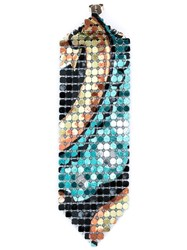Paco Rabanne Chainmail Earring Multicolour
