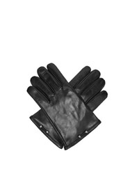 Neil Barrett Pierced Leather Gloves Black