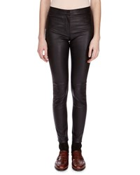 Loewe Napa Leather Leggings Black