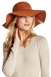 Melrose And Market Laser Cut Wool Hat Red