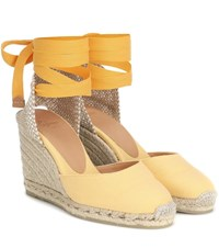 Castaner Carina Canvas Wedge Espadrilles Yellow