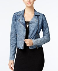 Material Girl Denim Moto Jacket Only At Macy's