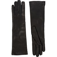 Barneys New York Women's Cashmere Lined Long Gloves Black Blue Black Blue