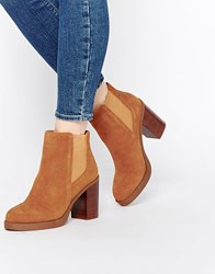 Oasis Premium 70'S Suede Ankle Boots Tan