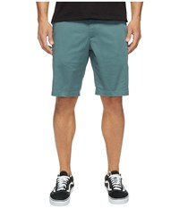 Rvca The Week End Stretch Shorts Pine Tree Men's Shorts White