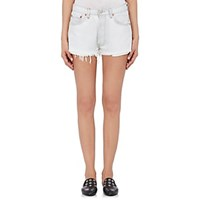 Re Done The Short Cutoff Shorts White