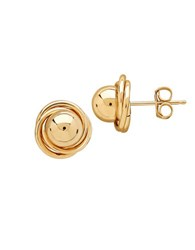 Lord And Taylor 14K Gold Love Knot Ball Stud Earrings