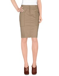 Trussardi Jeans Skirts Knee Length Skirts Women Sand