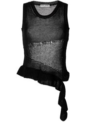 Each X Other Ripped Asymmetric Knitted Top Black