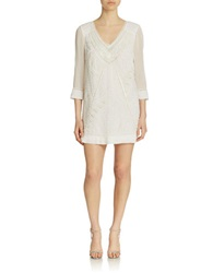 French Connection Evissa Beaded Dress Summer White