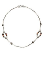 Konstantino Nemesis Mother Of Pearl And Pink Tourmaline Two Station Necklace Multi