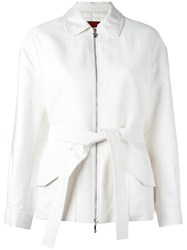 Moncler Gamme Rouge Padded Belted Jacket White