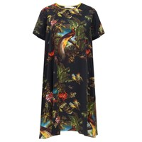 Klements Frieda Dress In Volcano Print Black