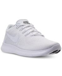 Nike Men's Free Run 2017 Running Sneakers From Finish Line White White Black Pure Pl