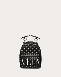 Valentino Garavani Mini Vltn Rockstud Spike.It Backpack Black Lambskin 100