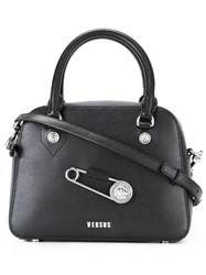 Versus Oversized Pin Detail Tote Black