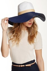 14Th And Union Colorblock Wide Brim Floppy Hat Blue