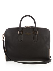 Burberry Horton Grained Leather Briefcase Black