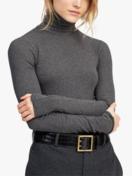 Ralph Lauren Polo Ribbed Turtleneck Top Barclay Heather