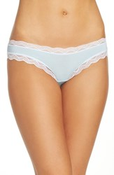 Cheekfrills Women's Lace Trim Bikini Blue Macaroon