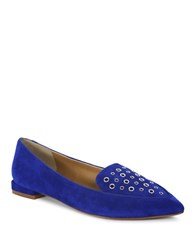 Tahari Esther Suede Slip On Loafers