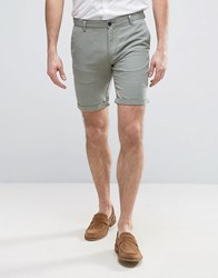 Selected Homme Ribbed Shorts Green