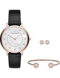 Emporio Armani Ar80011 Kappa Rose Gold Quartz Watch And Gift Set