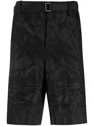 Sacai Belted Embroidered Bermuda Shorts 60