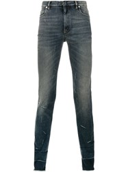 Maison Martin Margiela Distressed Effect Skinny Jeans Blue
