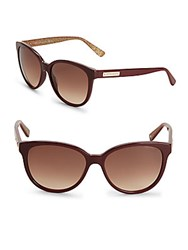 Jimmy Choo Gradient Goldtone Logo Etched Sunglasses Red
