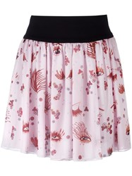 Giamba Eye Print Skirt Pink Purple