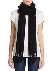 Cole Haan Seed Stitched Scarf Black