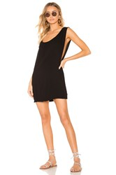 Indah Pella Plunge Mini Dress Black