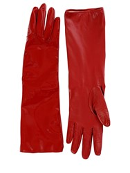 Alessandra Rich Mid Matte And Patent Leather Gloves