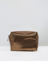 Asos Lifestyle Soft Metallic Make Up Bag Copper
