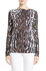 St. John Women's Collection Leopard Safari Print Tee