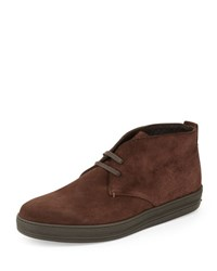 Tom Ford Clarence Suede Chukka Boot Dark Brown