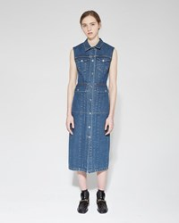 Acne Studios Genta Denim Dress Natural Blue Vintage