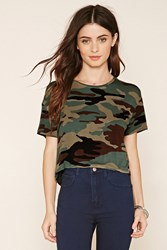 Forever 21 Camo Cropped Tee
